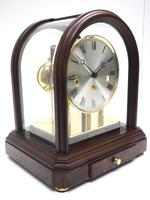 Wow! Franz Hermle & Sohne Musical Bell Chiming Mahogany & Glass Mantel Clock (9 of 13)