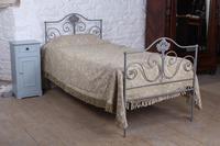Pretty Portuguese  Forged Iron Single  Bed