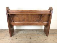 Antique Pitch Pine Chapel Pew with Shaped Sides (14 of 14)