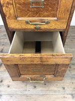 Antique Oak Four Drawer Filling Cabinet (7 of 12)