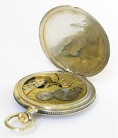 Antique Zenith Pocket Watch with Niello Case, 1914 (4 of 5)