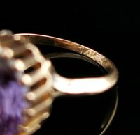 Vintage Colour Change Sapphire Cocktail Ring, 14k Yellow Gold (7 of 9)