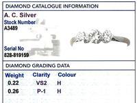 0.48ct Diamond & 18ct Yellow Gold, Platinum Set Trilogy Ring c.1930 (6 of 9)
