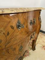 French Chest of Drawers Bombe Commode with Marble Top (7 of 12)
