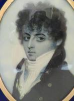 Miniature Portrait Georgian Gentleman 1790 En Grisaille (3 of 4)