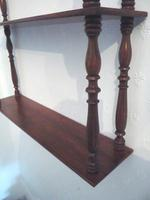 Attractive Set of French Walnut Wall Shelves c.1890 (4 of 4)