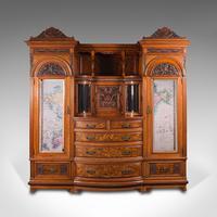 Large Fine Antique Wardrobe Compactum, English, Walnut, Gillow & Co, Victorian (2 of 12)