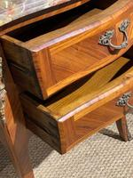 Pair of Marble Topped Bedside Cabinets (3 of 6)