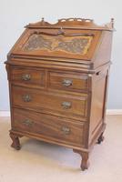 Antique Mahogany Small Bureau Writing Desk (11 of 11)
