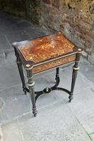 Superb French Inlaid Side Table/Work Table (4 of 18)