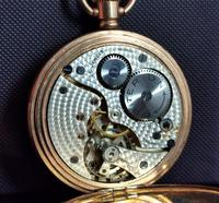 Art Deco Gold Plated Full Hunter Pocket Watch (9 of 11)