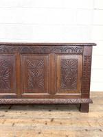 Huge 18th Century Carved Oak Coffer (3 of 9)