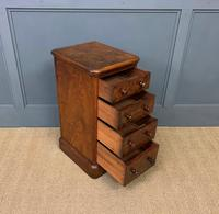 Victorian Pair of Burr Walnut Bedside Chests (3 of 14)