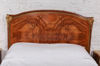 Spectacular and Beautiful Fruitwood Inlay Rococo King Size Bed (8 of 10)