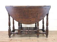 Antique Oak Drop Leaf Dining Table (12 of 13)
