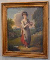 Superb Georgian Oil Painting 'Lavinia' After Gainsborough (2 of 5)