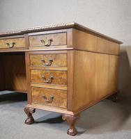 Antique Burr Walnut Partners Desk (7 of 12)