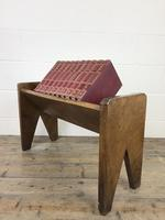 Early 20th Century Wooden Book Trough (7 of 8)