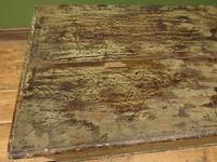 Large Antique Old Painted Green Distressed Pine Trunk Chest, Rustic Blanket Box (3 of 18)