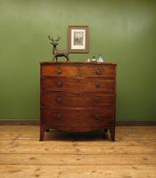 Antique 19th century Mahogany Bow Chest of Drawers, Country House Chest (15 of 18)