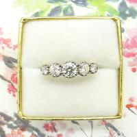 Vintage 18ct Platinum Five Stone Diamond Ring 1.20 Carat ~ with independent valuation (8 of 9)