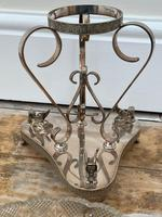 19th Century Victorian Silver Plate Sphinx Cut Glass Epergne Centrepiece Stand (20 of 28)