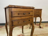 Vintage French Pair of Louis Style Bedsides Tables Oak Cabinets (11 of 12)
