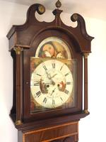 Fine English Longcase Clock Radcliff Elland 8-day Grandfather Clock with Moon Roller Dial (11 of 27)