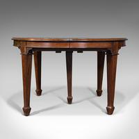 Antique Colonial Campaign Table, Indian, Rosewood, Dining, Extending, Victorian (3 of 12)