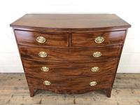 19th Century Mahogany Bow Front Chest of Drawers (3 of 18)