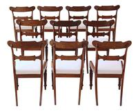 Set of 10 Regency Carved Mahogany Dining Chairs, 19th Century (5 of 8)