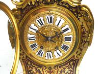 Rare Large Antique French Boulle Mantel Clock Ormolu Inlay 8 Day Mantle Clock (16 of 16)
