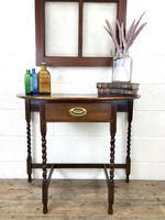 Antique Oak Demi-lune Console Table (13 of 14)