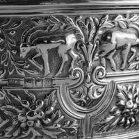 Rare Antique Solid Silver Cellini Tea Caddy Box - Mappin & Webb 1902 (23 of 28)