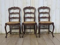 Six Oak & Rush Seated Dining Chairs (6 of 8)