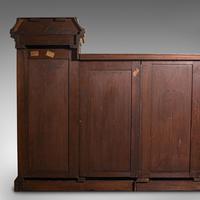 Huge, 15 Foot Antique Glazed Bookcase, English, Mahogany, Victorian c.1880 (11 of 12)