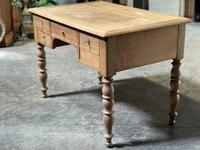 French Bleached Oak Writing Desk (20 of 21)