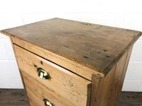 Antique Pine Chest of Drawers on a Plinth Base (9 of 13)