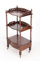 Antique Victorian 3 Tier Rosewood Whatnot