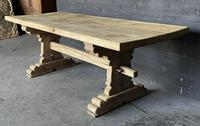 Rustic French Bleached Oak Farmhouse Dining Table (8 of 15)
