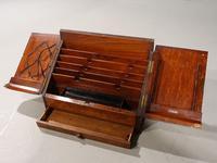 Beautifully Figured Late 19th Century Golden Oak Writing Box (5 of 8)