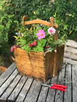 Antique Chinese Square Wooden Well Bucket (2 of 5)