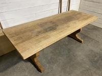 Huge Oak Farmhouse Dining Table with Extensions (13 of 24)