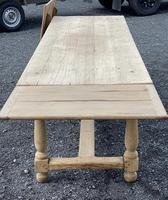 Large Bleached Oak Farmhouse Dining Table with Extensions & Storage (5 of 35)
