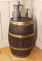 Georgian Oak Brandy Barrel. Stick Stand. Lamp Table (2 of 11)