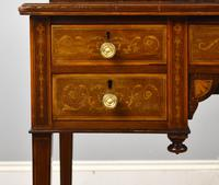 Edwardian Mahogany & Marquetry Writing Table by Jas Shoolbred (8 of 18)