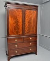 Georgian Flame Mahogany Linen Press / Wardrobe (3 of 13)