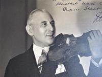 Leon Levson 'Photographer', Large Studio Photograph Portrait of David de Groot, Violinist, Dated 1929, Signed & Inscribed (4 of 5)