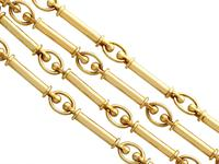 12ct Yellow Gold Chain - Antique c.1920 (4 of 13)