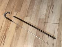 Gentleman's Walking Stick Sword Stick with Silver Handle (5 of 20)